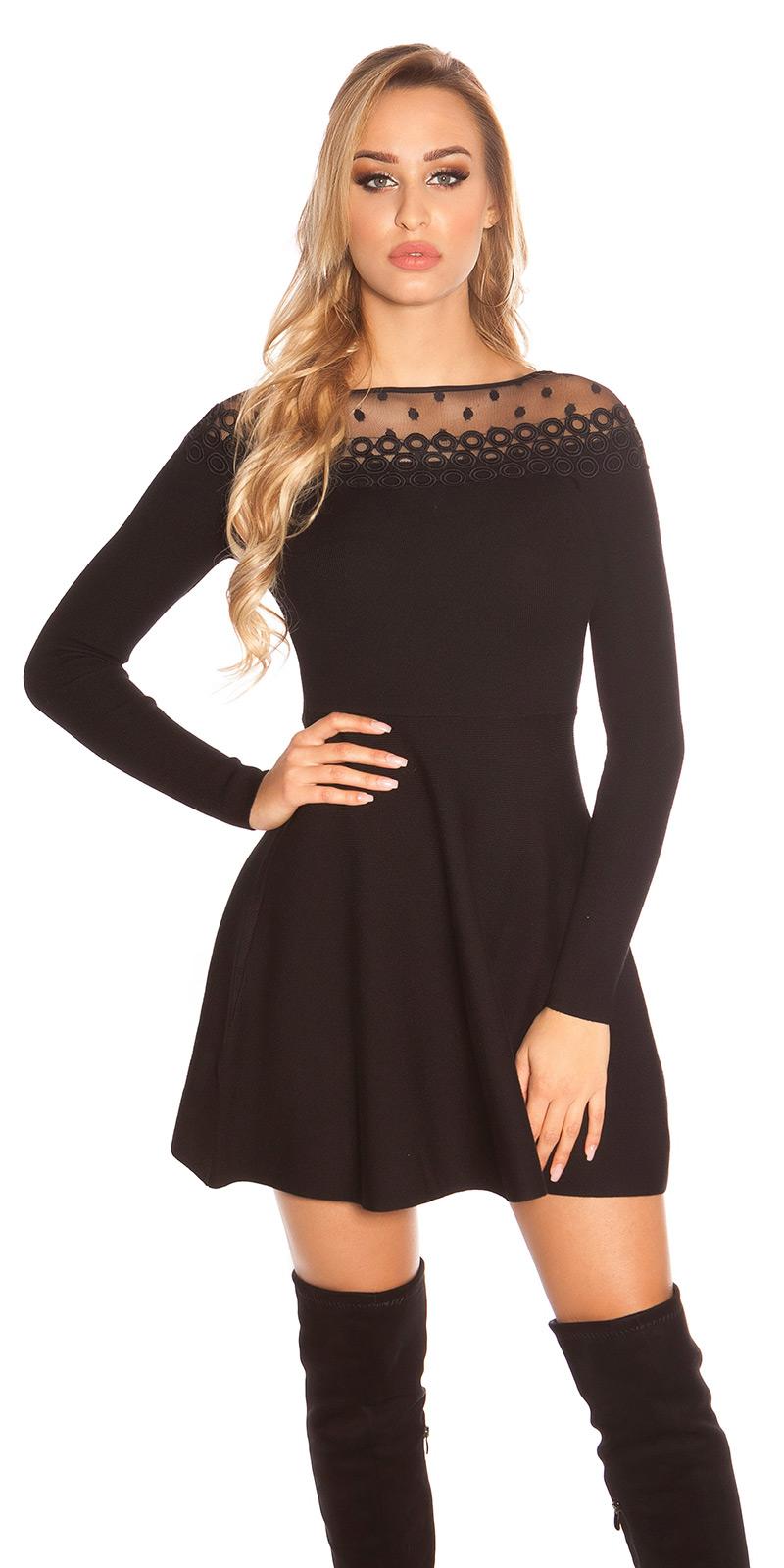 91b1f83a82083e [MB228] Czarna rozkloszowana sukienka