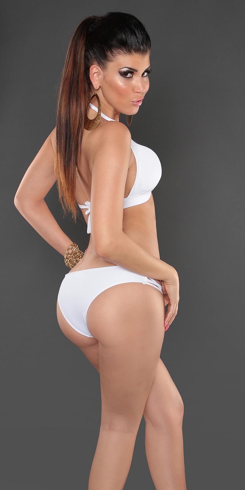 a5dec77501312f Rb156] Białe bikini z ozdobnym wężem :: Deme.pl