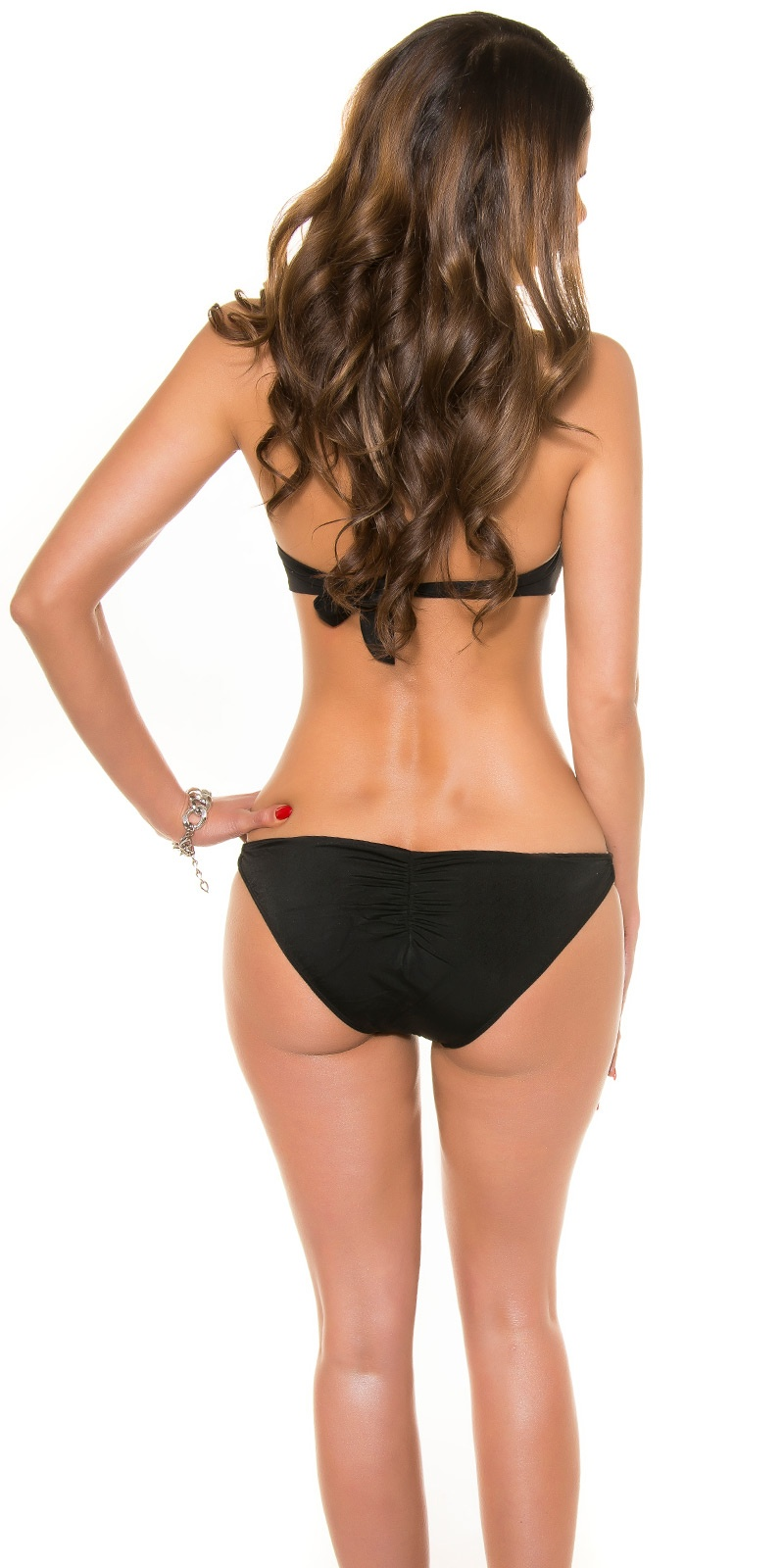 [Rb232] Czarne monokini kostium push up